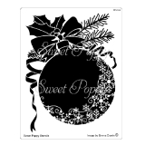 Sweet Poppy Stencil Christmas Snowflake Bauble